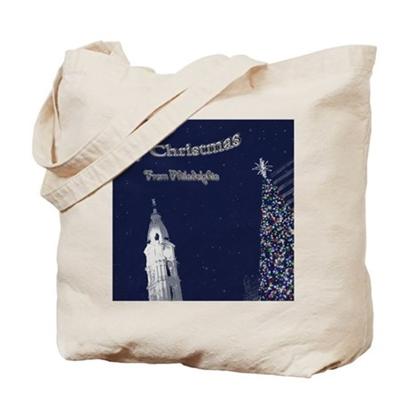 Merry Christmas from Philadelphia Tote Bag