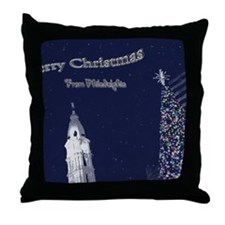 Merry Christmas from Philadelphia Throw Pillow