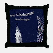 Merry Christmas from Philadelphia Throw Pillow
