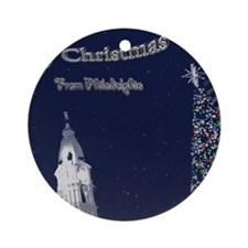 Merry Christmas from Philadelphia Round Ornament