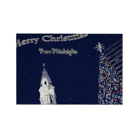 Merry Christmas from Philadelphia Rectangle Magnet