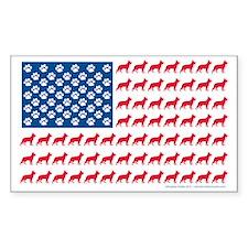 German Shepherd Patriotic USA  Decal