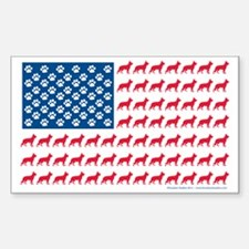 German Shepherd Patriotic USA  Decal