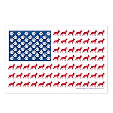 German Shepherd Patriotic Postcards (Package of 8)