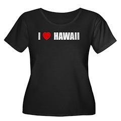 I Love Hawaii (Dark) T