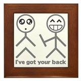 I\'ve got your back Framed Tiles