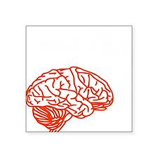 """Use brain Square Sticker 3"""" x 3"""""""
