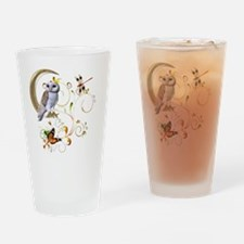 Owl Fantasy Drinking Glass