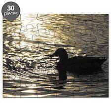 Golden Silhouette Puzzle