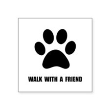 "Walk Pet Square Sticker 3"" x 3"""