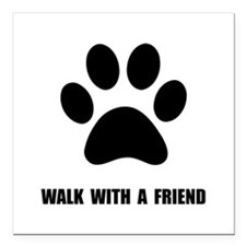 "Walk Pet Square Car Magnet 3"" x 3"""