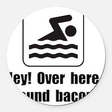 Found Bacon Round Car Magnet