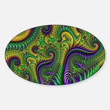 Mardi Gras Mambeaux Sticker (Oval)