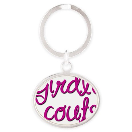 Girdle Scouts Oval Keychain
