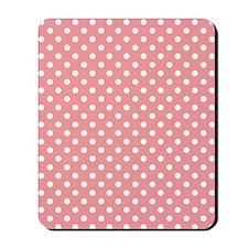 Pink Polka Dots Mousepad