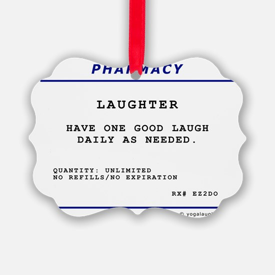 Laughtees Laughter Prescription L Ornament