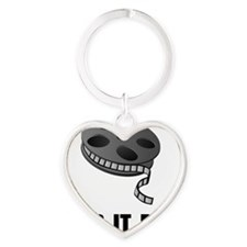 Keep Movie Reel Heart Keychain