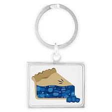 Blueberry Pie Landscape Keychain