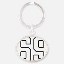 NUMBER 69 Oval Keychain