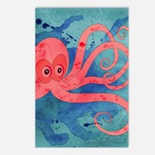 Pink Octopus Postcards (Package of 8)