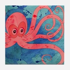Pink Octopus Tile Coaster