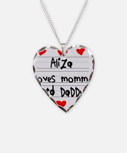 Aliza Loves Mommy and Daddy Necklace
