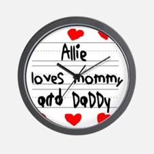 Allie Loves Mommy and Daddy Wall Clock