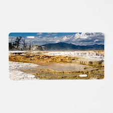 Yellowstones Mammoth Terrac Aluminum License Plate