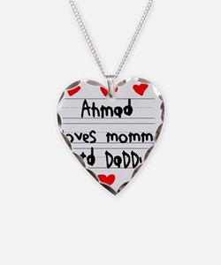 Ahmad Loves Mommy and Daddy Necklace