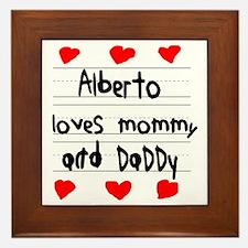 Alberto Loves Mommy and Daddy Framed Tile
