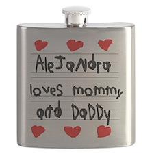 Alejandra Loves Mommy and Daddy Flask