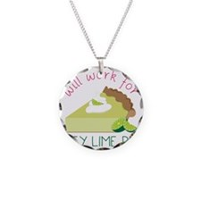 Work For Pie Necklace Circle Charm