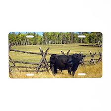 Lone Cow Aluminum License Plate