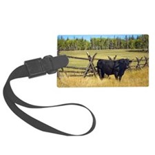 Lone Cow Luggage Tag