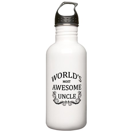 World's Most Awesome Uncle Stainless Water Bottle