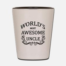 World's Most Awesome Uncle Shot Glass
