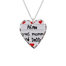 Alina Loves Mommy and Daddy Necklace
