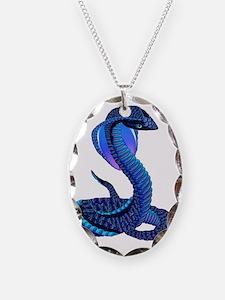 A Big Blue Snake Necklace