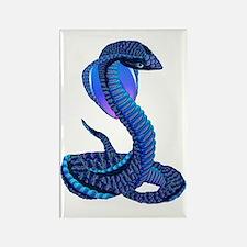 A Big Blue Snake Rectangle Magnet