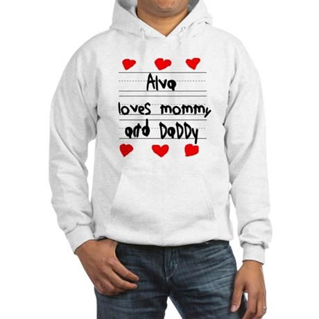 Alva Loves Mommy and Daddy Hooded Sweatshirt