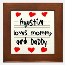 Agustin Loves Mommy and Daddy Framed Tile