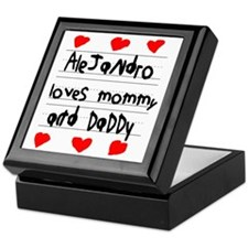 Alejandro Loves Mommy and Daddy Keepsake Box
