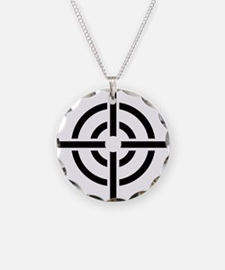 Crosshairs Necklace Circle Charm