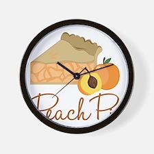 Peach Pie Wall Clock