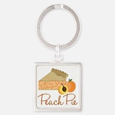 Peach Pie Square Keychain
