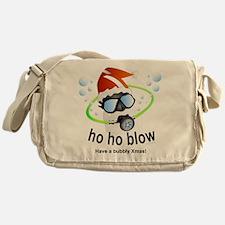 Merry Christmas Scuba santa Messenger Bag