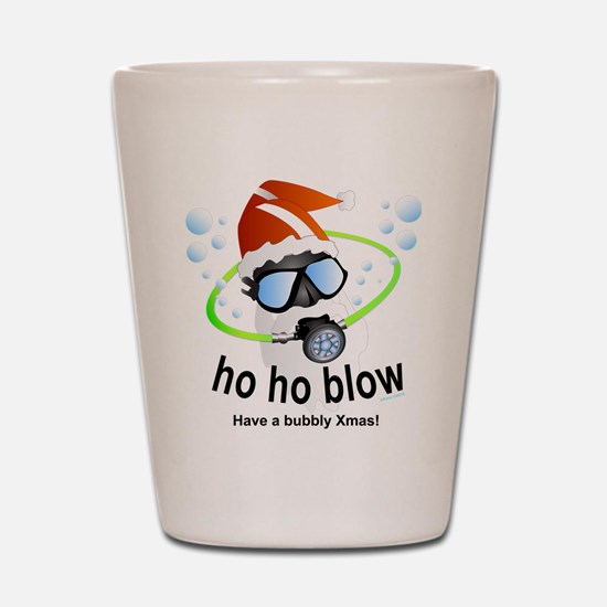 Merry Christmas Scuba santa Shot Glass