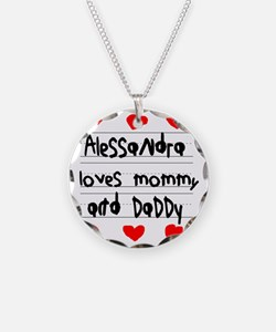 Alessandra Loves Mommy and D Necklace