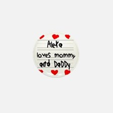 Alexa Loves Mommy and Daddy Mini Button