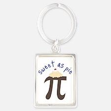 Sweet As Pie Portrait Keychain